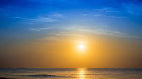 Sunrise over caribbean sea. With beautiful sky Stock Photos