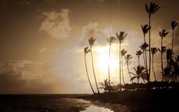 Sunrise over Caribbean sea Stock Photo
