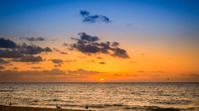 Sunrise over caribbean sea. Somewhere in Mexico Royalty Free Stock Photography