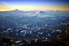 Sunrise Over Cascades stock photo