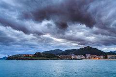 Sunrise over Castro Urdiales Royalty Free Stock Photography