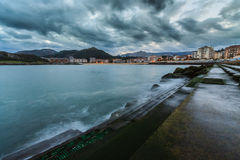 Sunrise over Castro Urdiales Royalty Free Stock Image