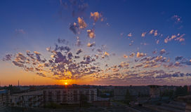 Sunrise over city Royalty Free Stock Photo