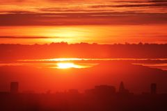 Sunrise over city Royalty Free Stock Photography