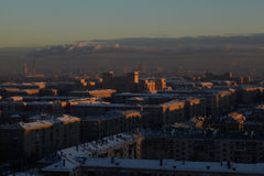 Sunrise over the city. Royalty Free Stock Photography