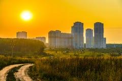 Sunrise over the city Stock Photo