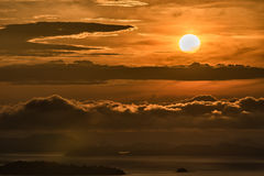 Sunrise over cloud in the morning Stock Photos