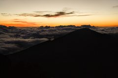Sunrise over clouds Hawaii. Stock Images