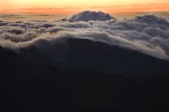 Sunrise over clouds in Hawaii. Stock Images
