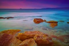 Sunrise over coast Royalty Free Stock Photography