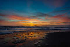 Sunrise over Cocoa Beach Royalty Free Stock Photography