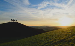 Sunrise over Colmer's Hill Royalty Free Stock Photos
