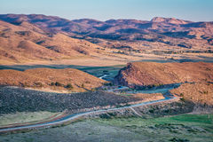 Sunrise over Colorado foothills Royalty Free Stock Photography