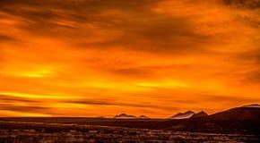 Sunrise over colorado mountains Stock Photo