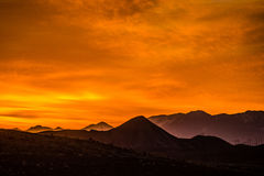 Sunrise over colorado  mountains Royalty Free Stock Image