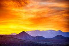 Sunrise over colorado mountains Royalty Free Stock Photography