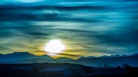 Sunrise over colorado mountains Royalty Free Stock Image