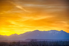 Sunrise over colorado rocky mountains Royalty Free Stock Photos