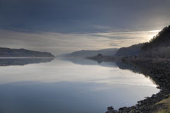 Sunrise Over Columbia River Gorge Royalty Free Stock Photo