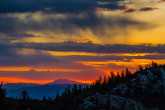 Sunrise Over Confusion Range. Sunrise Over Confurion Range In Utah Viewed From Mather Overlook, Great Basin National Park, Nevada Stock Photos