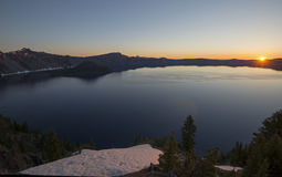 Sunrise over Crater Lake Stock Images