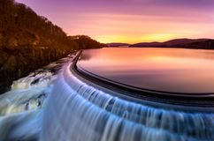 Sunrise over Croton Dam, NY Stock Images