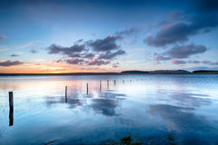 Sunrise over the Crowdy Reservoir on Bodmin Moor Royalty Free Stock Image