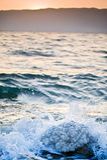 Sunrise over the dead sea Stock Image