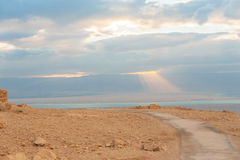 Sunrise over the Dead Sea Stock Photo