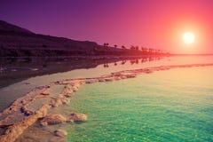 Sunrise over Dead Sea. Purple sunrise over Dead Sea Stock Photography