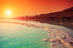 Sunrise over Dead Sea. Stock Image