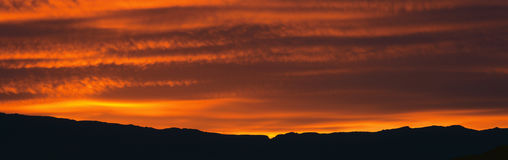 Sunrise over Death Valley National Park Stock Images