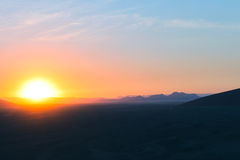 Sunrise over the Desert Royalty Free Stock Images