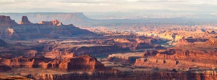 Sunrise over desert canyons Royalty Free Stock Image