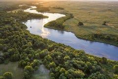 Free Sunrise Over Dismal River In  Nebraska Sandhills Stock Photo - 155328480