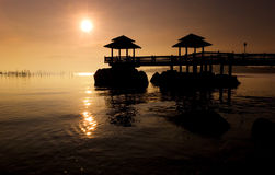 Sunrise OVer Disused Pier Stock Photography
