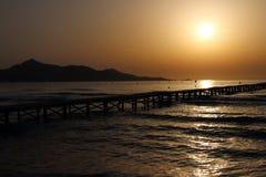 Sunrise over the dock Stock Photo