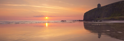 Sunrise over Downhill Beach in Northern Ireland Stock Image