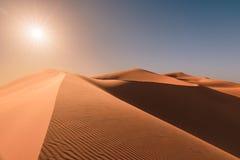 Sunrise over dunes of Erg Chebbi, Sahara, Merzouga, Morocco Royalty Free Stock Photos