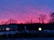 Sunrise over dunkin royalty free stock photography