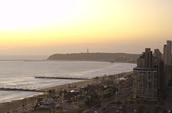 Sunrise over Durban's beach front Royalty Free Stock Photography