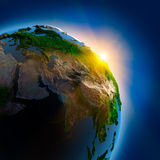 Sunrise over the Earth in outer Royalty Free Stock Photography