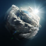 Sunrise over the earth. Sunrise over the small planet Royalty Free Stock Images