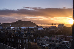 Sunrise over Edinburgh Stock Image
