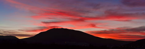 Sunrise over El Teide National Park Stock Image