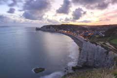 Sunrise over Etretat Stock Photos