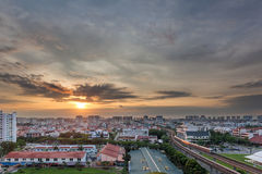 Sunrise over Eunos Residential Area Royalty Free Stock Image