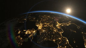Europe from space. Sunrise. Earth From Space. stock video
