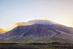 Sunrise over Femes mountains in Lanzarote Stock Photography