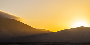 Sunrise over Femes mountains seen Royalty Free Stock Photo